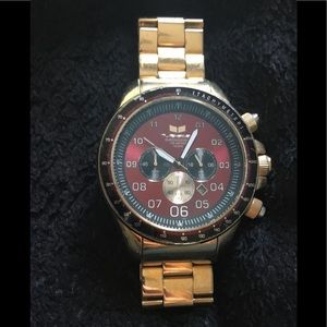 Gold plated watch
